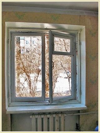 Старое двухств. окно