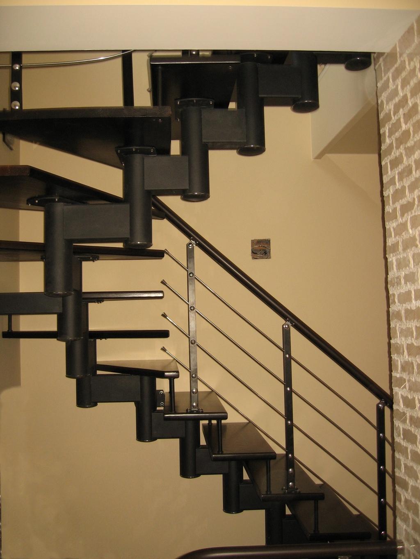 """Модульная лестница """"Хонор""""Лестницы в Курске, лестница на второй этаж частного дома недорогая для самостоятельной сборки красивая современная воздушная"""