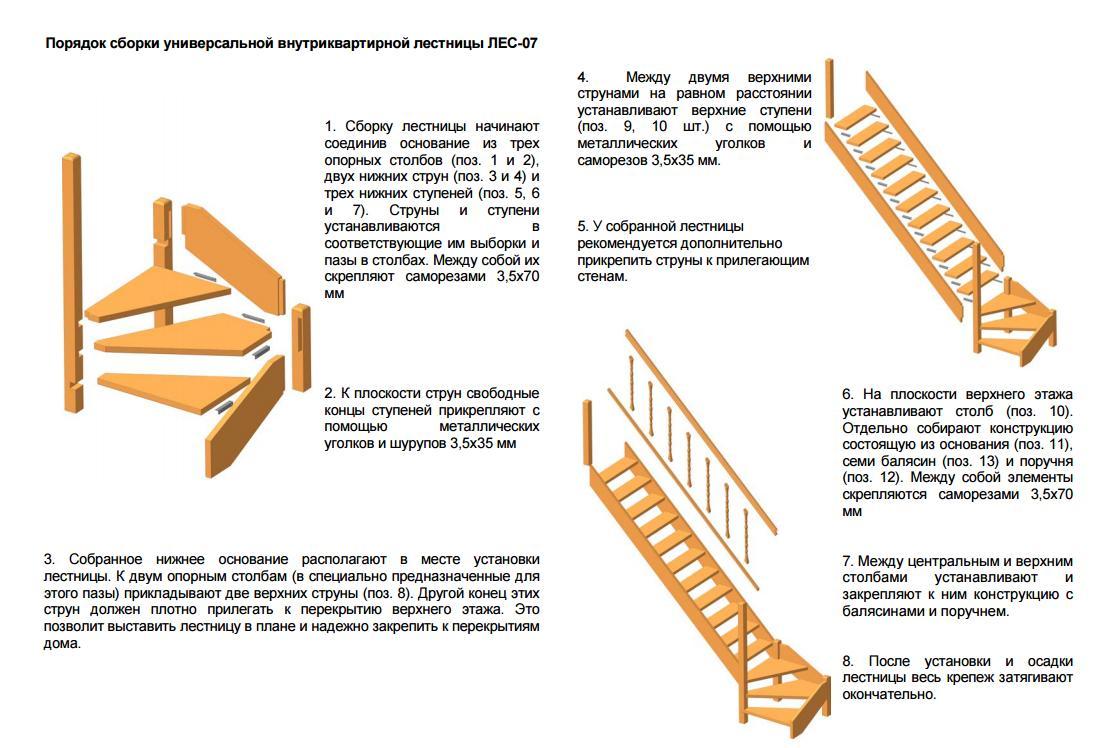 Собрать деревянную лестницу своими руками