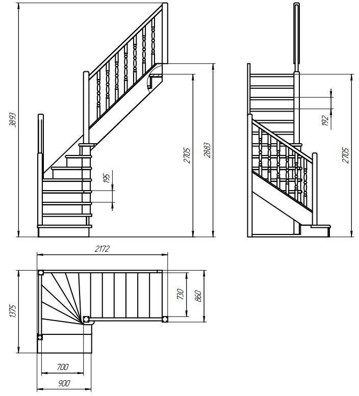 Межэтажные лестницы и чертежи