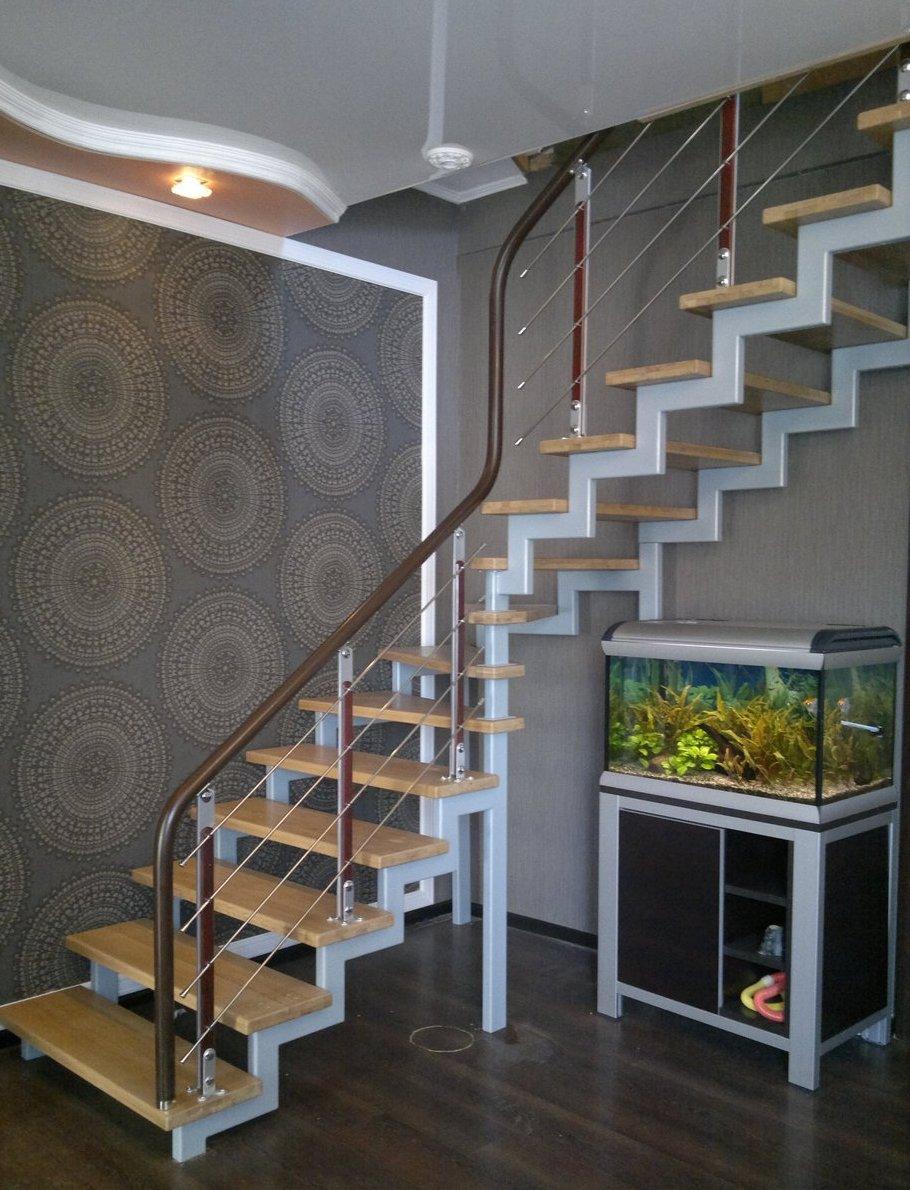 Лестницы в Курске, лестница на второй этаж частного дома недорогая для самостоятельной сборки красивая современная воздушная металлический каркас сварные
