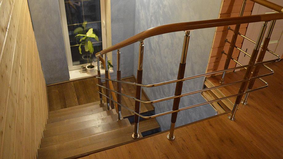Ограждения с поручнем ПВХ Лестницы в Курске, лестница на второй этаж частного дома недорогая для самостоятельной сборки красивая современная воздушная
