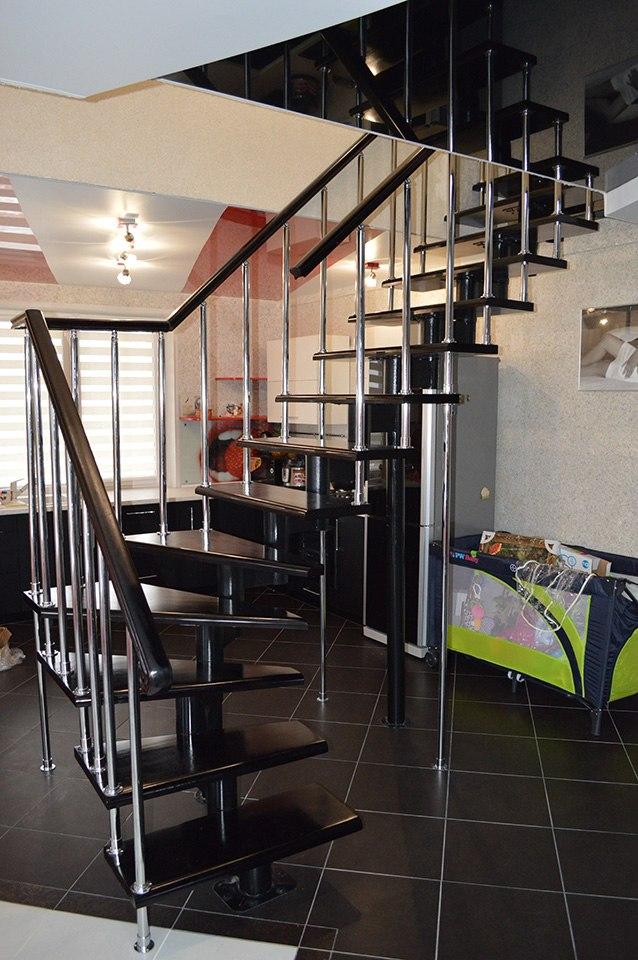 модульная лестница в современный дом Лестницы в Курске, лестница на второй этаж частного дома недорогая для самостоятельной сборки красивая современная воздушная чердачная