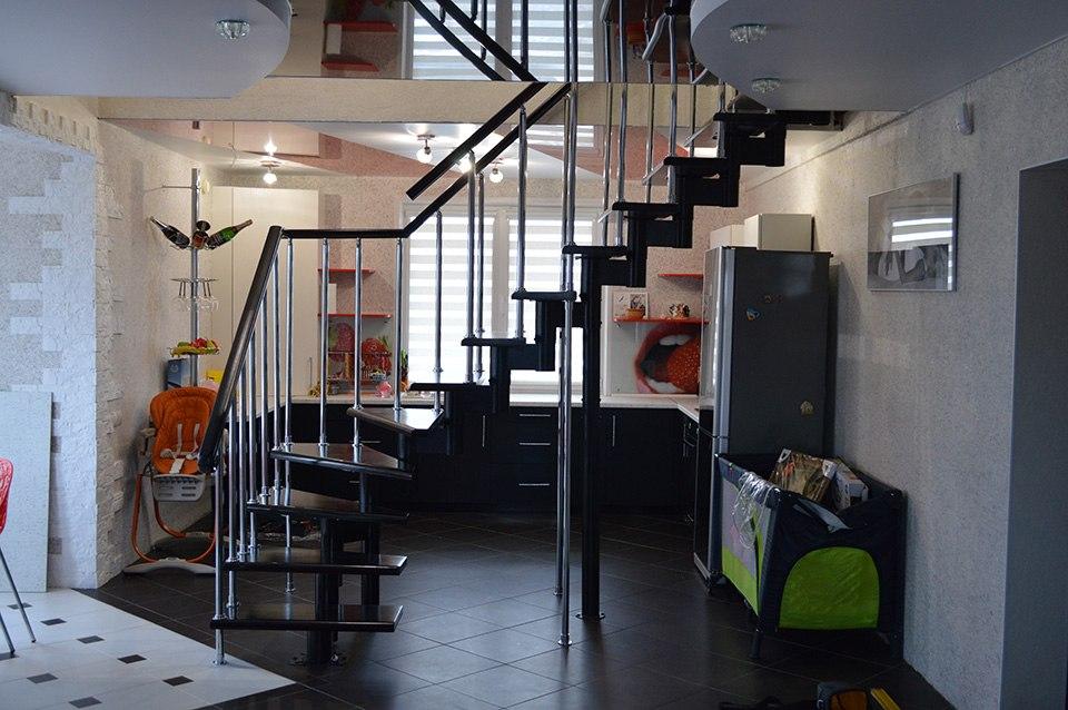 Модульная лестница в современный дом Лестницы в Курске, лестница на второй этаж частного дома недорогая для самостоятельной сборки красивая современная воздушная