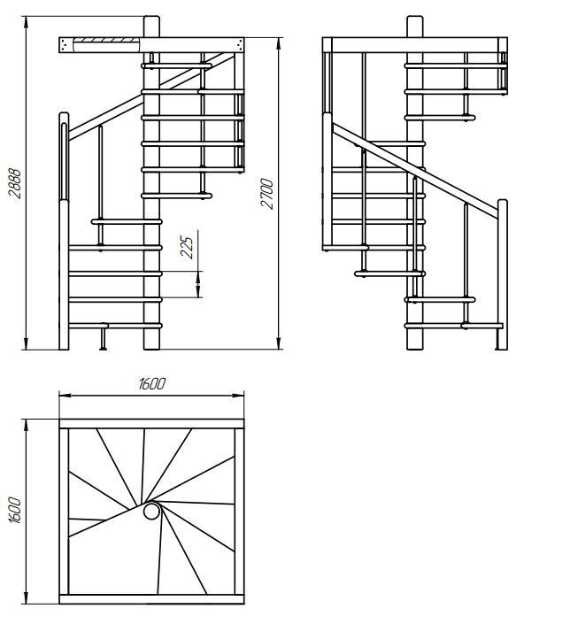 Схема лес10к Лестницы в Курске, лестница на второй этаж частного дома недорогая для самостоятельной сборки красивая современная воздушная чердачная